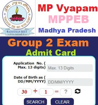 MPPEB Group 2 Admit Card 2021