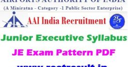 AAI Junior Executive Syllabus 2021