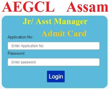 AEGCL Assistant Manager Admit Card 2021