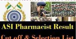 CRPF ASI Pharmacist Result 2021
