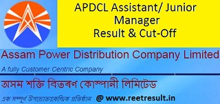 APDCL Junior Manager Result 2021