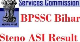 BPSSC Steno ASI Result 2021