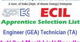 ECIL Apprentice Selection List 2021