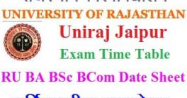 Rajasthan University Time Table 2021