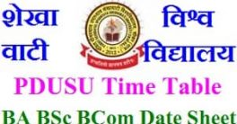 PDUSU Exam Time Table 2021
